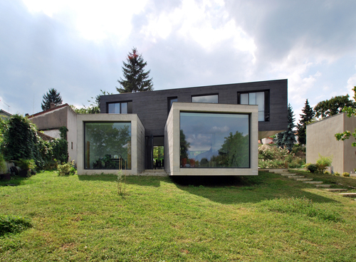 SKP Architecture — Villa in cemento e vetro a Creteil - Parigi ...
