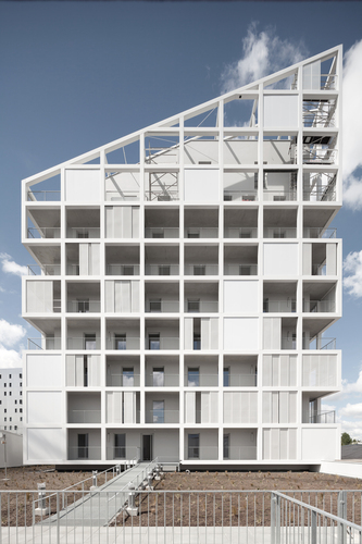 Mixed-use Complex : Social Housing and Commercial Space - Antonini Darmon architectes