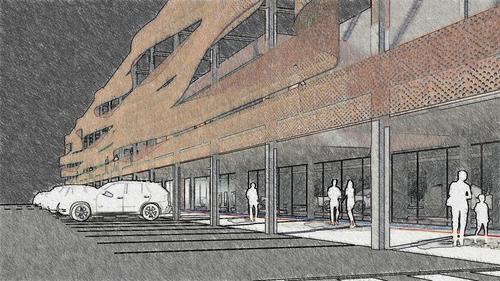 Raffaele Taiariol, Alessandro Tamburello, Michele Ros Geometra, Maurizio Aruta Geometra — Nuovo fronte edificio commerciale