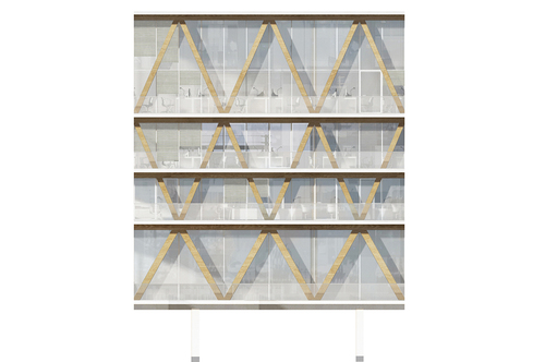 Eversmann Studio, Sarah Markert — SUSTAINABLE CHEMISTRY LABORATORY AND RESEARCH BUILDING