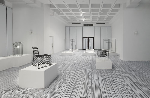 nendo — Thin Black Lines + Dancing Squares