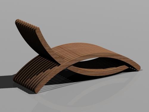 Antonio gianfranchi chaise longue in legno divisare by for Chaise longue torino