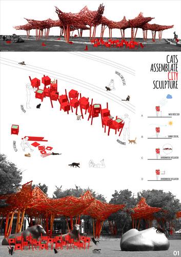 Luca Ariedi — CATS ASSEMBLATE CITY SCULPTURE