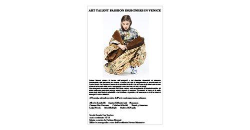 SERENA MAZZUCCO — ART TALENT FASHION DESIGNERS IN VENICE
