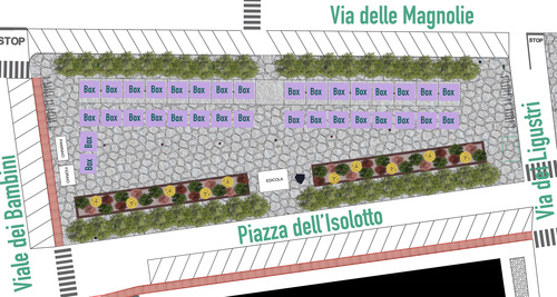 Nazzareno Vacca, Margherita Vacca — Riqualificazione di Piazza dell'Isolotto a Firenze