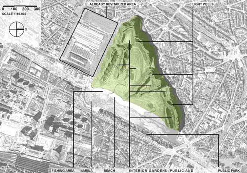 WITKOWSKI F. Boguslaw, Town Planning Design & Architecture - Witkowski — Brussels Hills On The Beach - Revitalisation Of The Former Tour & Taxis Area