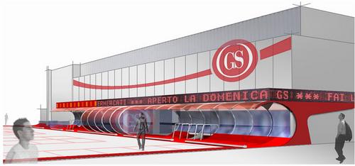 KK architetti associati, Simone Moggia, Tiziana d'Angelantonio — concorso di idee per l'immagine esterna dei supermercati gs