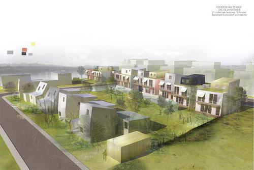 Berranger et vincent architectes 20 logements collectifs for Architecte lyon maison individuelle