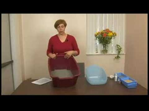 Cat Behavior & Care : Cat Care: Cleaning the Litter Box