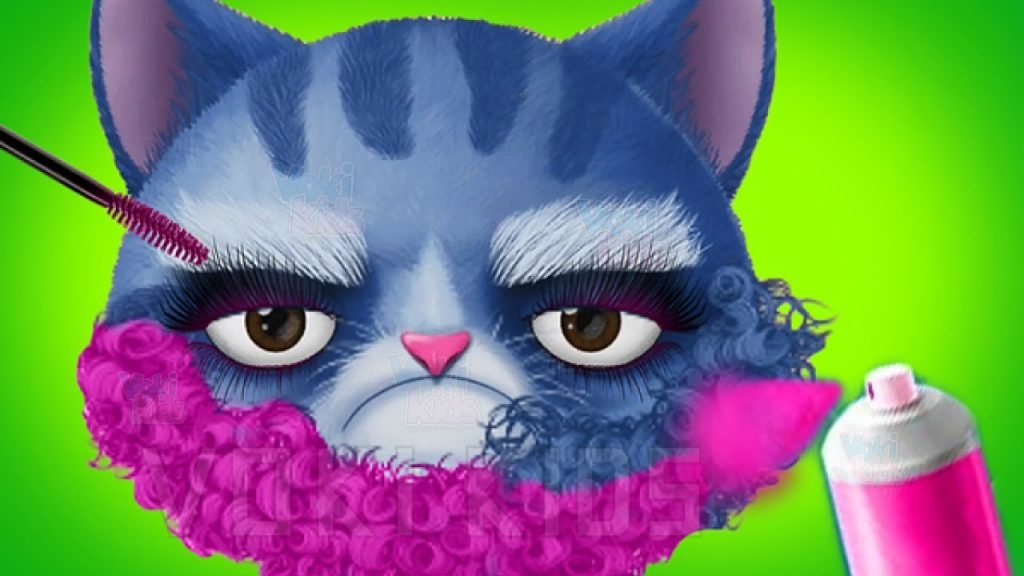 Fun Cat Care & Pet Makeover – Kids Learn how to Care of Cute Pets – Baby Play Kitty Hair Salon Game