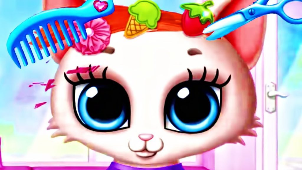 Fun Cat Care Kids Game – Play Kitty Makeover and Learn Colors Girls Game | Educational App for Kids