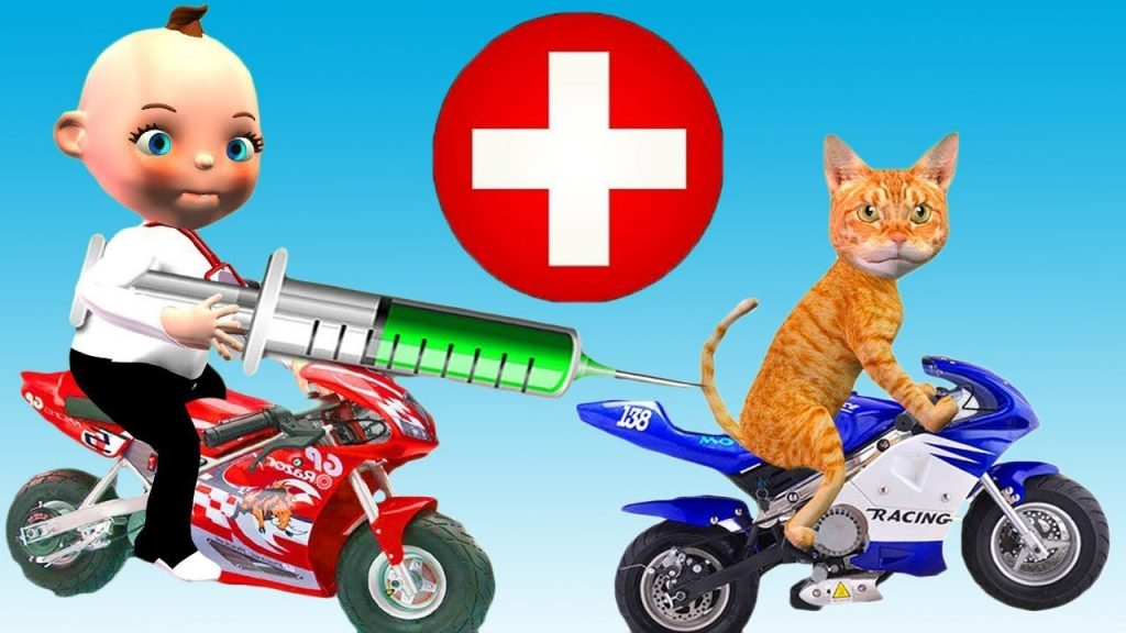 Bad Baby Playing Doctor Funny Cat Care Bad Kids Play Pretend Doctor Injection Finger Family Song