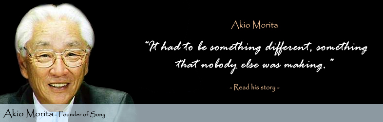 Akio Morita Quote