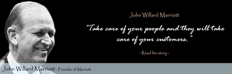 John Willard Marriott Quote