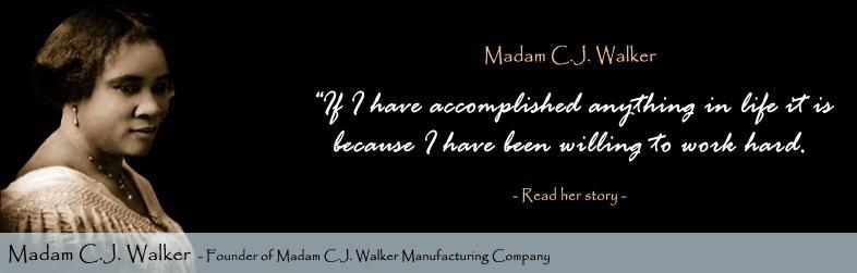 Madam Cj Walker Quotes Madam C.jwalker Quotesmadam C.jwalker