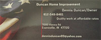 Website for Duncan Home Improvement