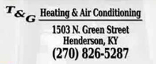 Website for T & G Heating and Air Conditioning