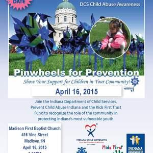 Pinwheels for prevent flyer