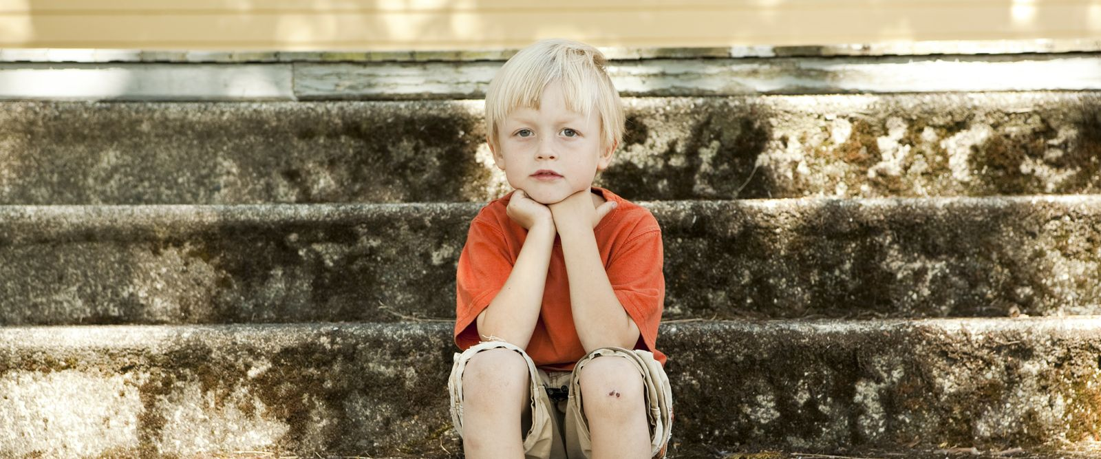 Child on steps