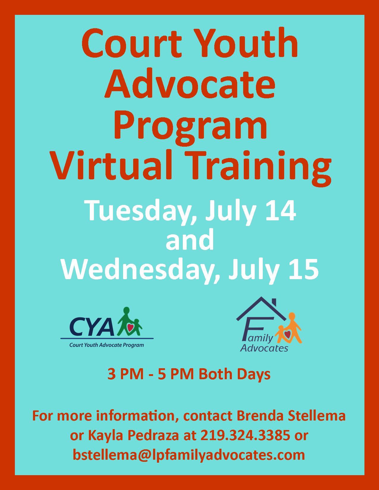 Cya training flyer