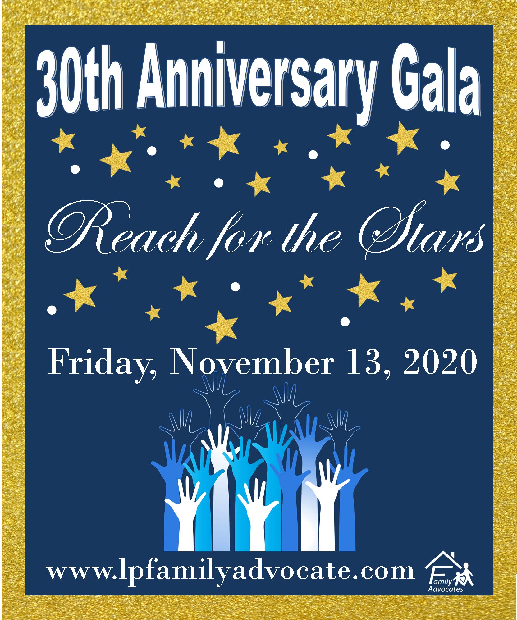 Save the date fall gala