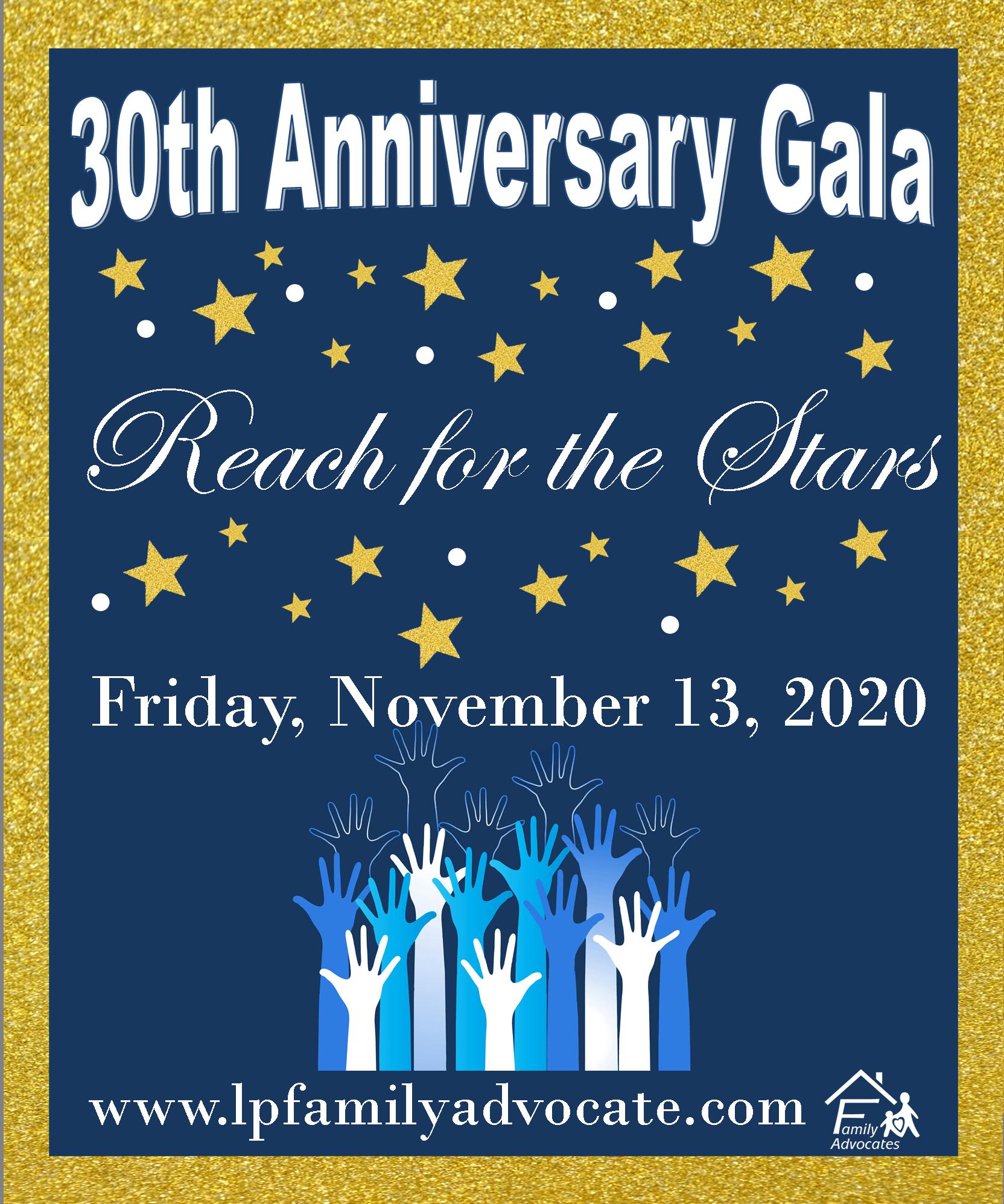 Save the date fall gala