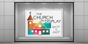 Church on display banner
