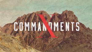 The 10 commandments title slide