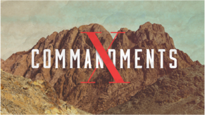 The 10 commandments title slide