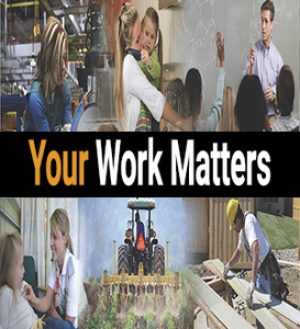 Your work matters message photo