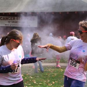 Color me pink run event