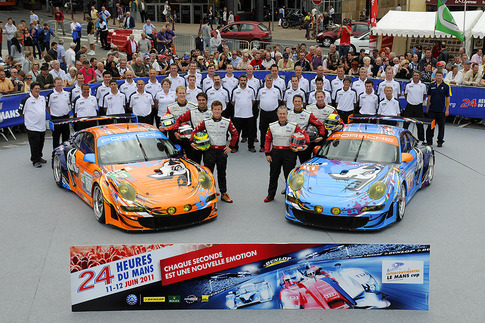 Flying Lizard Motorsports fielded two cars at Le Mans. Photo by Bob Chapman/AutosportImage.com