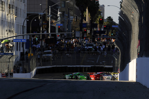 The street circuit at the Long Beach Grand Prix. For some people, the roads of their commute to work are transformed into a full-blown racetrack for a weekend.