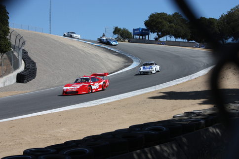 Follmer in the red 935 is followed closely by Overbeek in the 934. Photo by Damon Lowney