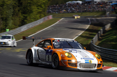 The GT3 R Hybrid completed 22 hours and 15 minutes at the 24 Hours of the Nrburgring.