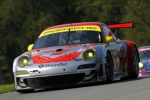 The #45 Porsche GT3 RSR qualified 8th with Porsche factory driver Patrick Long behind the wheel. Photo: Bob Chapman