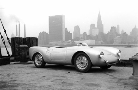 Porsche 550 Spyder 60 years ago. Photo courtesy Porsche