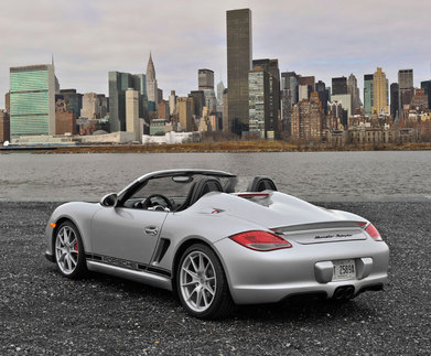 Porsche Boxster Spyder 60 years later. Photo courtesy Porsche