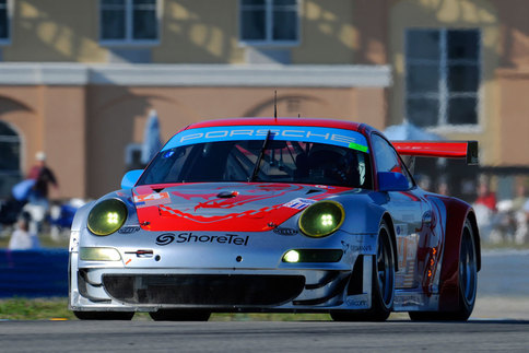 Darren Law will race the #44 Flying Lizard Motorsport GT3 RSR along with teammate Seth Neiman and ALMS rookie Marco Holzer. Photo by Bob Chapman