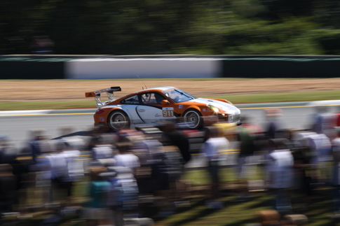 THe GT3 R Hybrid finished 18th overall after starting in 41st place. Photo by Pete Stout