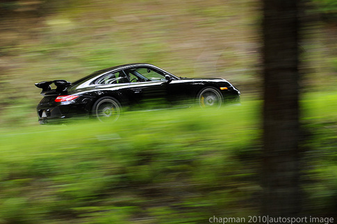 8500-rpm GT3 seen screaming through the trees. Photo by Bob Chapman/Autosportimage.com