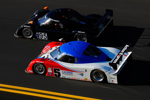The fastest Daytona Prototypes lapped Daytona International Speedway within one second of each other during testing. Photo by Bob Chapman/AutosportImage.com