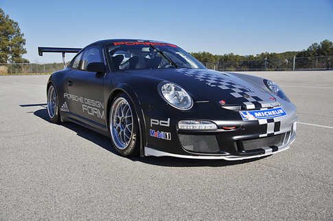 Two-seat GT3 Cup car, to be used in Porsche&#39;s Two-day Advanced Driving Course. Photo courtesy Porsche