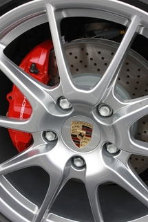 The Cayman R comes standard with the Boxster Spyder's lightweight 19-inch wheels. Photo by Damon Lowney