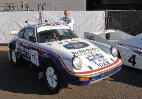 This was Porsche's 1983 entry in the Paris-Dakar Rally, the four-wheel drive 911 SC also known as the Type 953. Many consider it one of Porsche's loudest race cars, and it was my ride for Sunday. Photo courtesy Randy Leffingwell