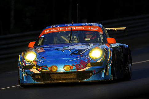 81 Flying Lizard Motorsports – Law, Neiman, Pumpelly (GTE-Am): Between Mulsanne and Indianapolis