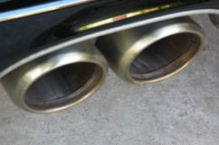 Clean-burning M96 exhaust tips
