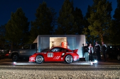 Racing at Pikes Peak starts at dawn. Photo courtesy Porsche