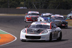 The Panamera S battles it out amongst other V8 four-door race cars. Photo courtesy N. Technology