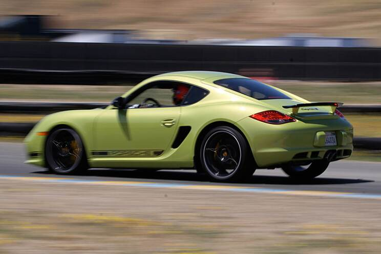 Lively handling defined the Cayman R -- and dictated its slower lap times. Its handling is less subtle than the Spyder's, though precision is still one of the R's specialties.
